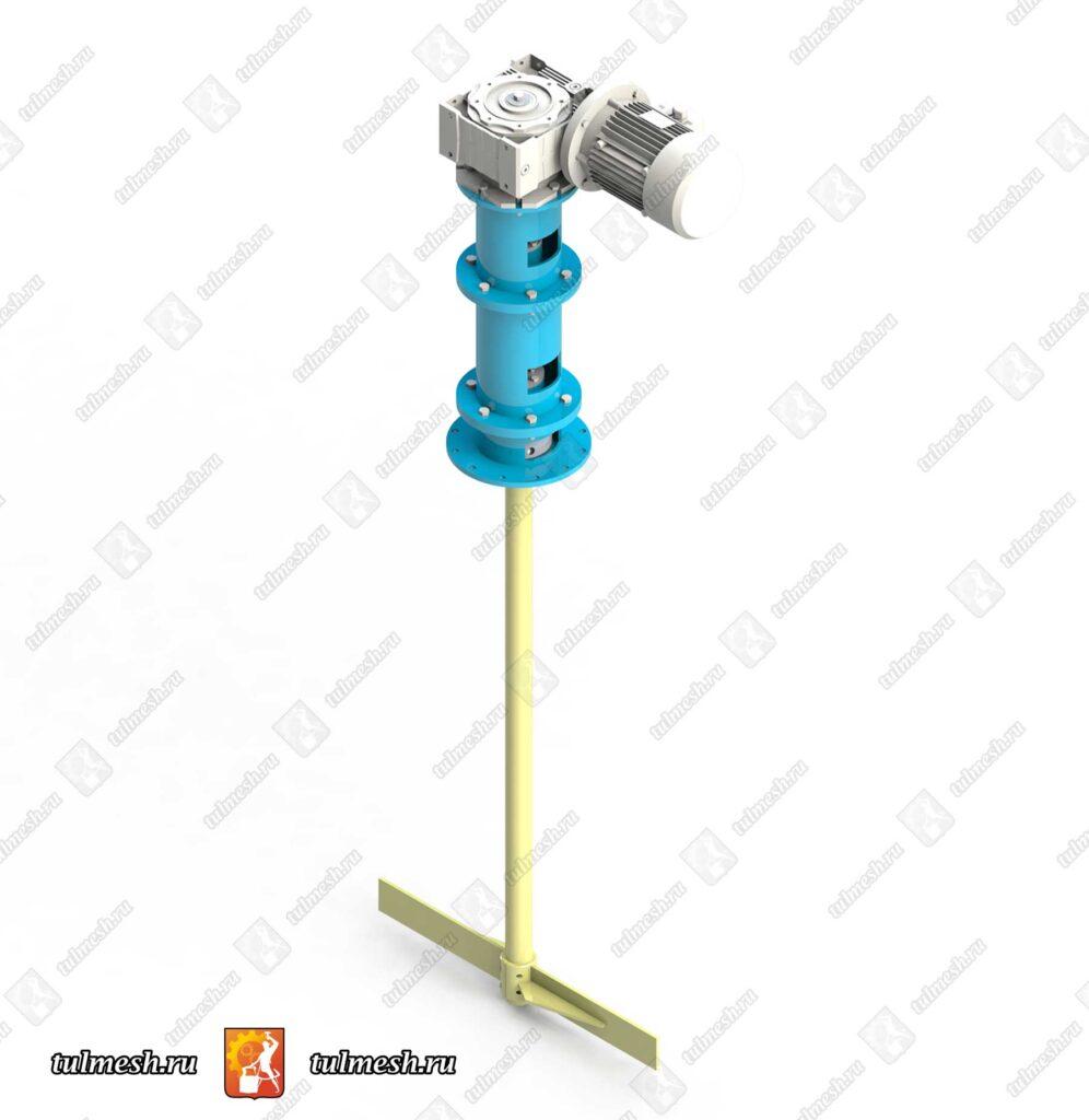 Мешалка-лопастная для растворов солей МЛ1_2-1000-60-3,0-380В-12Х18Н10Т